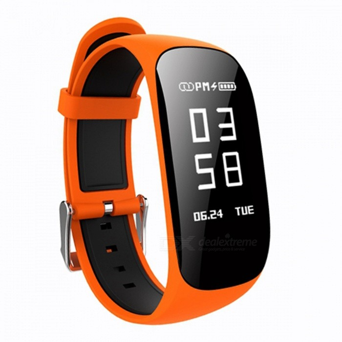 Z17 0.96 OLED Intelligent Bluetooth Wrist Watch Bracelet with Heart Rate Monitor, Pedometer - OrangeSmart Bracelets<br>Form  ColorOrange + BlackModelZ17Quantity1 setMaterialABSShade Of ColorOrangeWater-proofIP67Bluetooth VersionBluetooth V4.0Touch Screen TypeYesCompatible OSIOS7.1 and above, Android4.4 and aboveBattery Capacity90 mAhBattery TypeLi-polymer batteryStandby Time5-7 daysPacking List1 x Smart Watch1 x Charging Cable 1 x User Manual<br>