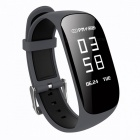 "Z17 0.96"" OLED Intelligent Bluetooth Wrist Watch Bracelet with Heart Rate Monitor, Pedometer - Grey"