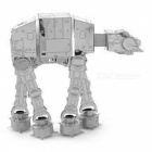 DIY 3D Puzzle, Stainless Steel Metal Star Wars ATAT Soldier Dog Robot Assembly Model Puzzle Toy - Silver