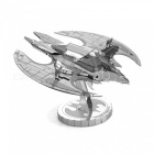 DIY Jigsaw Puzzle, 3D Stainless Steel Metal Batman 1989 Bat Wing Assembly Model Educational Toy - Silver