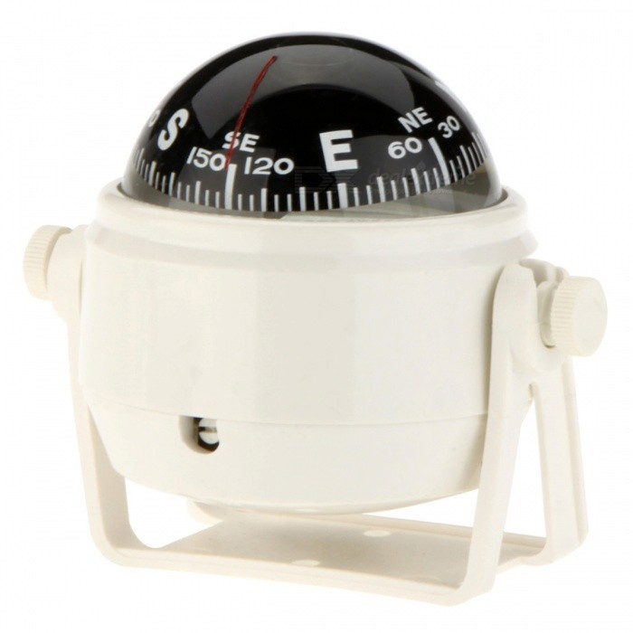 OJADE Marine Boat Truck Car Dashboard Dash Mount Pivoting Compass - WhiteCompasses<br>Form  ColorWhiteQuantity1 DX.PCM.Model.AttributeModel.UnitMaterialABSAnalog or DigitalAnalogRulerNoPacking List1 x Compass<br>