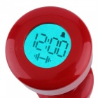 P-TOP Normal Exercise Lift Up Dumbbell Type LCD Digital Table Alarm Clock - Red