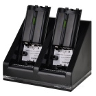 Dual Battery Charging Station with 2800mAh Rechargeable Batteries for Wii (Black)