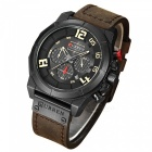 CURREN 8287 Men's PU Leather Band Water Resistant Quartz Wrist Watch - Brown