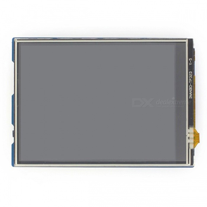 Waveshare 320x240 3.2 Inches TFT Touch LCD Shield for ArduinoLCD, LED Display Module<br>Form  Color3.2inch TFT Touch ShieldModel3.5inch TFT Touch ShieldQuantity1 DX.PCM.Model.AttributeModel.UnitMaterialTFTScreen TypeTFTScreen Size3.2 DX.PCM.Model.AttributeModel.UnitResolutionOthers,320x240Working Voltage   3.3V/5 DX.PCM.Model.AttributeModel.UnitEnglish Manual / SpecNoDownload Link   www.waveshare.com/wiki/3.2inch_TFT_Touch_ShieldPacking List1 x 3.2inch TFT Touch Shield<br>