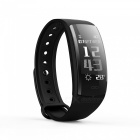 "QS90 Sports 0.96"" TFT Bluetooth V4.0 Waterproof Smart Bracelet Wristband with Heart Rate Monitoring - Black"