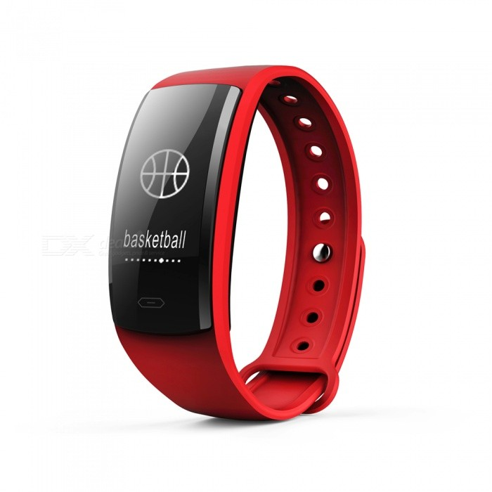QS90 Sports 0.96 TFT Bluetooth V4.0 Waterproof Smart Bracelet Wristband with Heart Rate Monitoring - Red + BlackSmart Bracelets<br>Form  ColorRed + BlackModelQS90Quantity1 DX.PCM.Model.AttributeModel.UnitMaterialPlasticShade Of ColorRedWater-proofIP67Bluetooth VersionBluetooth V4.0Touch Screen TypeYesOperating SystemNoCompatible OSAndroid and IOSBattery Capacity70 DX.PCM.Model.AttributeModel.UnitBattery TypeLi-polymer batteryStandby Time7 DX.PCM.Model.AttributeModel.UnitOther FeaturesCPU: Nordic 52832; <br>Heart rate sensor; Triaxial sensor step analysis, sedentary reminder, sleep monitoring, heart rate monitoring, Contact touchPacking List1 x Smart Bracelet1 x Charging Cable<br>