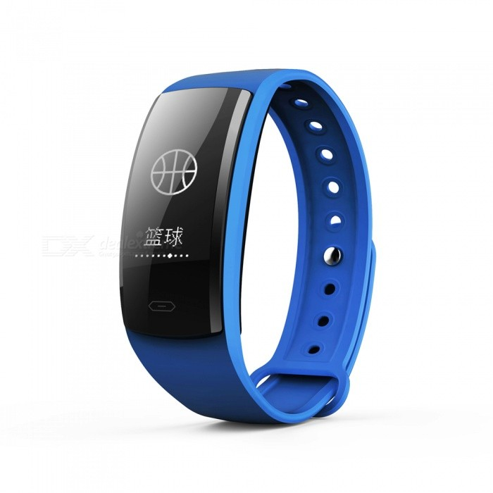 QS90 Sports 0.96 TFT Bluetooth V4.0 Waterproof Smart Bracelet Wristband with Heart Rate Monitoring - Blue + BlackSmart Bracelets<br>Form  ColorBlue + BlackModelQS90Quantity1 DX.PCM.Model.AttributeModel.UnitMaterialPlasticShade Of ColorBlueWater-proofIP67Bluetooth VersionBluetooth V4.0Touch Screen TypeYesOperating SystemNoCompatible OSAndroid and IOSBattery Capacity70 DX.PCM.Model.AttributeModel.UnitBattery TypeLi-polymer batteryStandby Time7 DX.PCM.Model.AttributeModel.UnitOther FeaturesCPU: Nordic 52832; <br>Heart rate sensor; Triaxial sensor step analysis, sedentary reminder, sleep monitoring, heart rate monitoring, Contact touchPacking List1 x Smart Bracelet1 x Charging Cable<br>