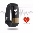 M4 Smart Wristband Bracelet with Heart Rate Monitor, Fitness Tracker for Android iOS - Black + Golden