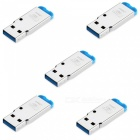 5-Piece USB Mini SD Card Reader - Blue