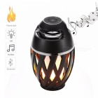 OJADE Portable Waterproof Stereo Bluetooth Speaker with LED Flame Lights for Dancing Party