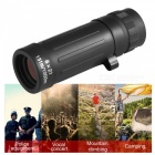 OJADE 8X 21mm Handheld Focus Optical Telescope Monocular for Survival Hunting - Black
