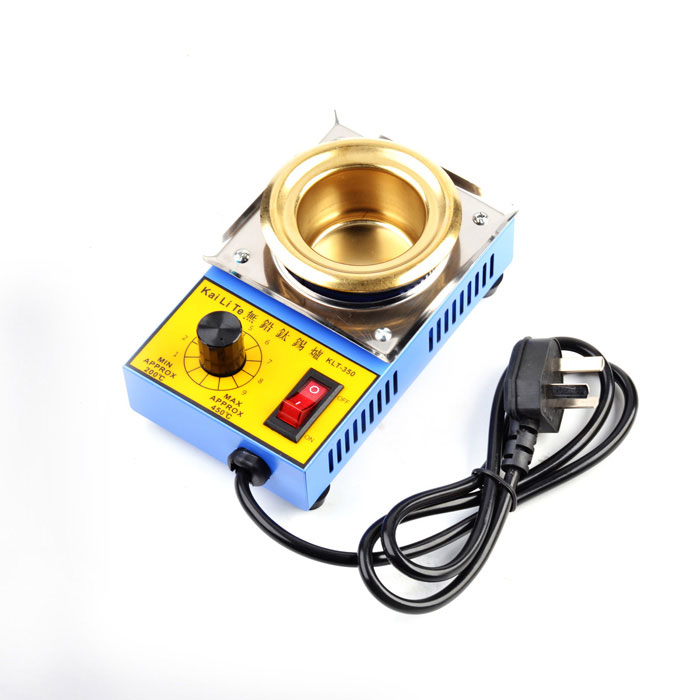 150W Temperature Controlled Soldering Pot - Blue + Golden (220V)
