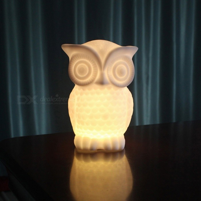 P-TOP 20lm 1W LED Bead Beam Battery Powered Owl Shaped Night Light Desk Lamp - Warm White (3 x AAA Batteries)LED Nightlights<br>Form  ColorWhite (Warm White Light)MaterialVinyl GlueQuantity1 DX.PCM.Model.AttributeModel.UnitPower1WRated VoltageOthers,5 DX.PCM.Model.AttributeModel.UnitColor BINWarm WhiteEmitter TypeLEDActual Lumens20 DX.PCM.Model.AttributeModel.UnitDimmableNoBeam Angle360 DX.PCM.Model.AttributeModel.UnitInstallation TypeOthers,Table LampPacking List1 x Owl Night Light (Not Batteries)<br>
