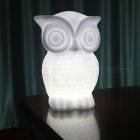 P-TOP 20lm 1W LED Bead Beam Battery Powered Owl Shaped Night Light Desk Lamp - Cold White (3 x AAA Batteries)