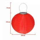 Waterproof LED Solar Lantern Lamp, Festive Garden Xmas Ball String Fairy Light for Party Holiday - Red