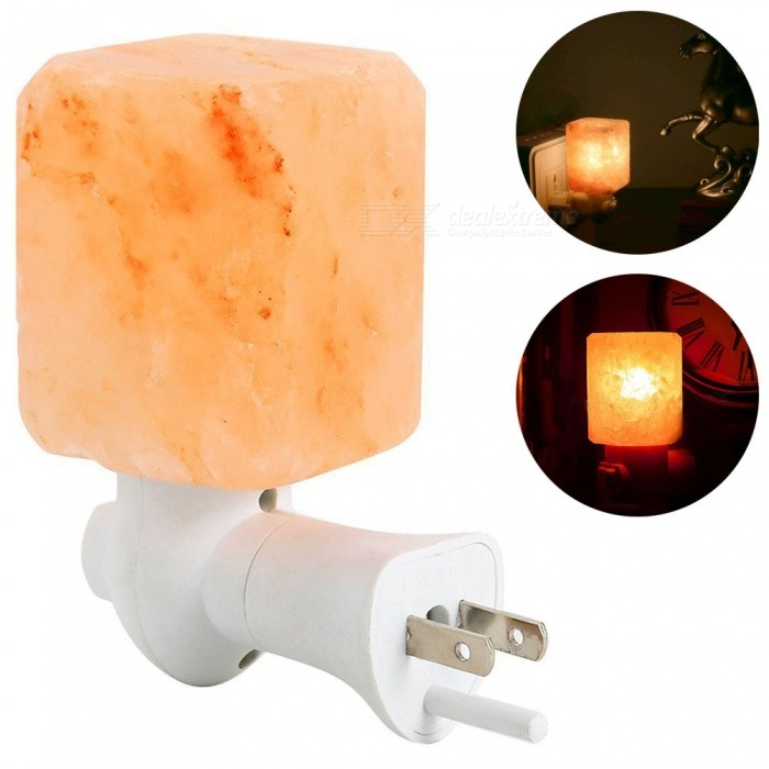 YouOKLight  Natural Himalayan Salt Rock Lamp, Mini Hand Carved Salt Crystal Night Light Wall Light - US PlugLED Nightlights<br>Form  ColorWhite + YellowModelYK2293-USMaterialHimalayan Crystal Salt + PlasticQuantity1 DX.PCM.Model.AttributeModel.UnitPower7WRated VoltageOthers,AC 120 DX.PCM.Model.AttributeModel.UnitColor BINWarm WhiteEmitter TypeOthers,Incandescent lampTotal Emitters1Color Temperature3000KDimmableNoBeam Angle360 DX.PCM.Model.AttributeModel.UnitInstallation TypeInsertedPacking List1 x Himalayan Salt Night Light (US Plug)<br>