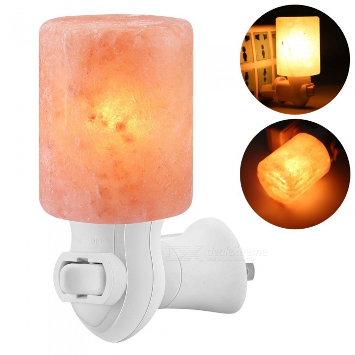 YouOKLight Mini Hand Carved Natural Rock Himalayan Salt Lamp, Air Purifier Mineral Salt Wall Light (Cylinder Shape)