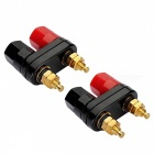 ZHAOYAO Terminal Binding Post Power Amplifier Dual 2-Way Banana Plugs (2 PCS)