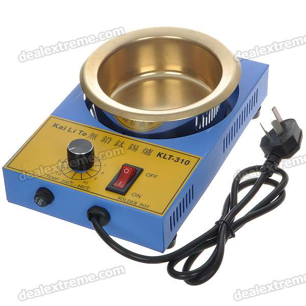 300w temperature controlled soldering pot blue golden for Solde pot exterieur