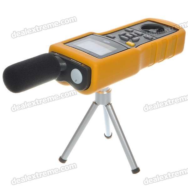 Multifunctional Environmental Temperature/Humidity/Light/Sound/Air Flow/Wind Speed Meter (1*9V)