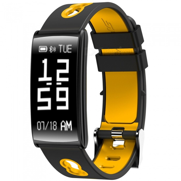 HM68 Sports Bluetooth Smart Bracelet with Blood Pressure, Heart Rate, Blood Oxygen Detection, Caller ID - YellowSmart Bracelets<br>Form  ColorYellowModelHM68Quantity1 DX.PCM.Model.AttributeModel.UnitMaterialTPUShade Of ColorYellowWater-proofIP67Bluetooth VersionBluetooth V4.0Operating SystemAndroid 4.4,iOSCompatible OSAndroid IOSBattery Capacity80 DX.PCM.Model.AttributeModel.UnitBattery TypeLi-polymer batteryStandby Time10 DX.PCM.Model.AttributeModel.UnitPacking List1 x Smart Bracelet1 x Data Cable1 x Manual<br>