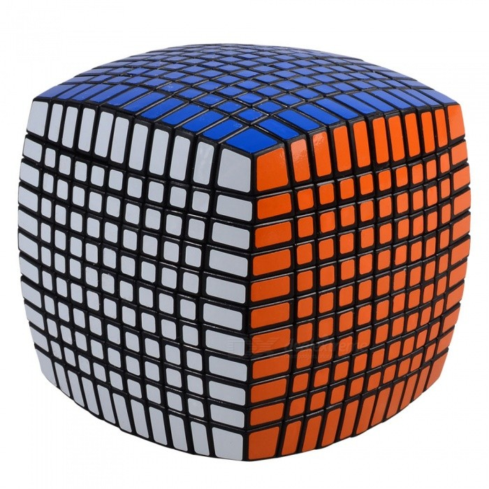 ZHISHENG Professional 115mm 11x11x11 Speed Magic Cube Puzzle Educational Toy - BlackMagic IQ Cubes<br>Form  ColorBlackMaterialABSQuantity1 pieceTypeOthers,11x11x11Suitable Age 5-7 years,8-11 years,12-15 years,Grown upsPacking List1 x Magic Cube 1 x Spare Sticker<br>