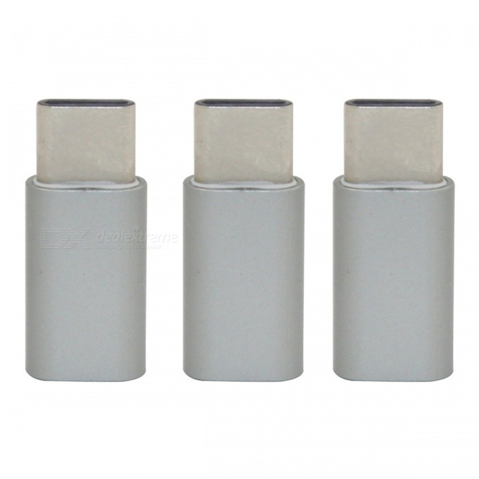 Mini Smile Aluminium Alloy USB 3.1 Type-C to Micro USB Data Charging Adapters - Gray (3PCS)Adapters &amp; Converters<br>Form  ColorGreyModelMC01MaterialAluminium alloyQuantity3 piecesCompatible ModelsSamsung / Huawei/ LG/ OneplusMain FunctionsInterface conversionTransmission Rate10GbpsConnectorUSB 3.1 Type-C / Micro USBCable Length2.5 cmPacking List3 x Adapters<br>
