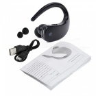 Q2 Touch Stereo Bluetooth Earhook Style Earphone Headset Headphone - Black