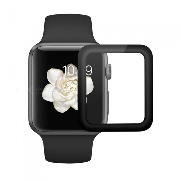 Hat-Prince Full Coverage Tempered Glass Protector for Apple Watch Series 1 / 2 42mm - BlackWearable Device Accessories<br>Form  ColorBlackQuantity1 DX.PCM.Model.AttributeModel.UnitMaterialAluminium alloy + Tempered GlassPacking List1 x Screen Protector1 x Dust Remover1 x Cleaning Cloth1 x Alcohol Prep Pad<br>