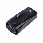 Dayspirit HDMI Female to VGA Female Converter Adapter with Audio Cable - Black