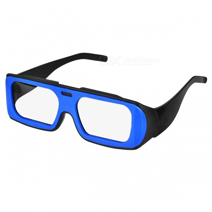 Re-useable Plastic Frame Passive Circular Polarized 3D Glasses for Cinema - Blue