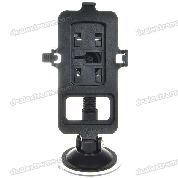 Plastic Car Swivel Mount Holder with Suction Cup for Nokia N8 - Black nokia n8 в сумах
