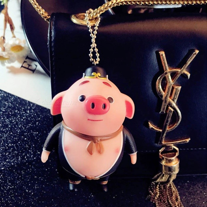 ZHAOYAO Cute Cartoon Pigsy Style Mini Doll KeychainKeychains<br>Form  ColorBlack + Pink + Multi-ColoredMaterialEnvironmental protection PVCQuantity1 DX.PCM.Model.AttributeModel.UnitPacking List1 x Keychain<br>