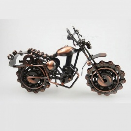 Premium Metal Iron Motorcycle Model Craft Home Ornament, Creative Gift