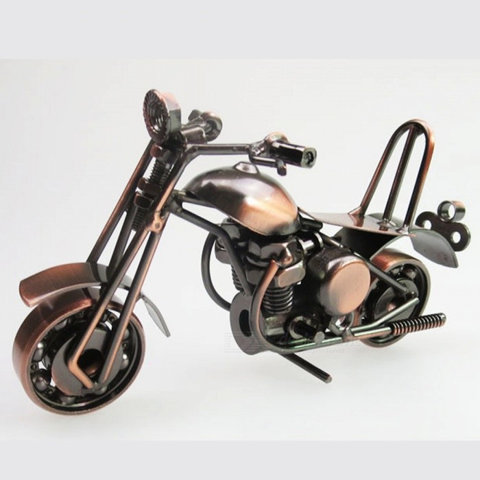 european style iron motorcycle model for home decoration creative gift free shipping. Black Bedroom Furniture Sets. Home Design Ideas