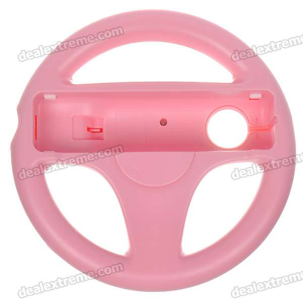 Plastic Racing Wheel Controller for Wii (Pink)