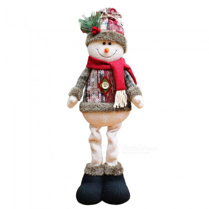 P-TOP Snow Man Doll for Christmas Xmas Tree Decoration, Best GiftChristmas Gadgets<br>Form  ColorRed + Green + Gray + White - Snow ManMaterialFlannelQuantity1 DX.PCM.Model.AttributeModel.UnitSuitable holidaysChristmasPacking List1 x Christmas Doll<br>
