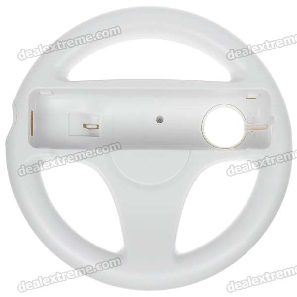 Plastic Racing Wheel Controller for Wii (White)