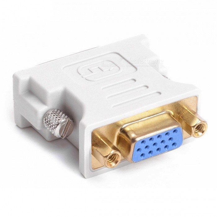 Dayspirit DVI 24+5 Male to VGA Female Adapter Connector - WhiteAV Adapters And Converters<br>Form  ColorWhiteModelN/AMaterialABSQuantity1 pieceShade Of ColorWhiteConnectorHDMI,DVIPacking List1 x Adapter<br>