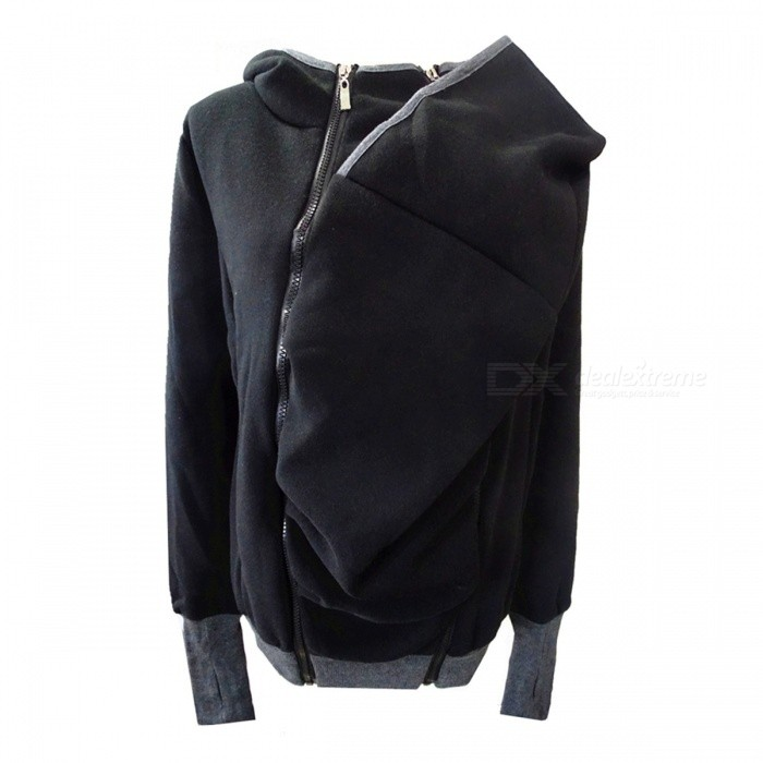 Creative Kangaroo Style Zippered Removable Sweater Hoddie Coat for Women - Black (L)Hoodies &amp; Sweatshirts<br>Form  ColorBlackSizeLQuantity1 DX.PCM.Model.AttributeModel.UnitShade Of ColorBlackMaterialCottonStyleOthers,Keep warmShoulder Width43 DX.PCM.Model.AttributeModel.UnitChest Girth97-100 DX.PCM.Model.AttributeModel.UnitWaist Girth76-80 DX.PCM.Model.AttributeModel.UnitSleeve Length66 DX.PCM.Model.AttributeModel.UnitTotal Length94 DX.PCM.Model.AttributeModel.UnitSuitable for Height165-170 DX.PCM.Model.AttributeModel.UnitPacking List1 x Sweater<br>
