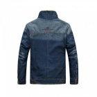 99891 Men' Winter Fashion Warm Denim Jacket, Cool Long Sleeves Coat - Blue (2XL)