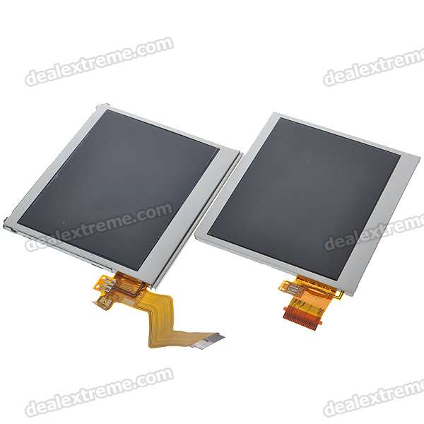 Refurbished Upper and Lower TFT LCD Screen Modules for NDS Lite (2-LCD Set)