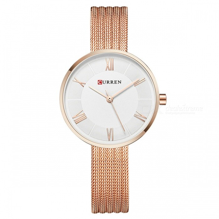 CURREN 9020 Womens Stylish Quartz Wrist Watch - Rose GoldQuartz Watches<br>Form  ColorWhite + Rose GoldenModel9020Quantity1 DX.PCM.Model.AttributeModel.UnitShade Of ColorGoldCasing MaterialAlloyWristband Material-Suitable forAdultsGenderWomenStyleWrist WatchTypeFashion watchesDisplayAnalogMovementQuartzDisplay Format12 hour formatWater ResistantFor daily wear. Suitable for everyday use. Wearable while water is being splashed but not under any pressure.Dial Diameter3.2 DX.PCM.Model.AttributeModel.UnitDial Thickness1 DX.PCM.Model.AttributeModel.UnitWristband Length23 DX.PCM.Model.AttributeModel.UnitBand Width1 DX.PCM.Model.AttributeModel.UnitBattery626Packing List1 x Watch<br>