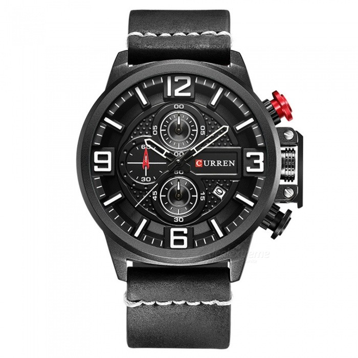 CURREN 8278 Mens Cool Stylish Quartz Wrist Watch - BlackQuartz Watches<br>Form  ColorBlackModel8278Quantity1 DX.PCM.Model.AttributeModel.UnitShade Of ColorBlackCasing MaterialAlloyWristband Material-Suitable forAdultsGenderUnisexStyleWrist WatchTypeFashion watchesDisplayAnalogBacklightnoMovementQuartzDisplay Format12 hour formatWater ResistantFor daily wear. Suitable for everyday use. Wearable while water is being splashed but not under any pressure.Dial Diameter5.3 DX.PCM.Model.AttributeModel.UnitDial Thickness1.3 DX.PCM.Model.AttributeModel.UnitWristband Length25.5 DX.PCM.Model.AttributeModel.UnitBand Width2.3 DX.PCM.Model.AttributeModel.UnitBattery626Packing List1 x Watch<br>
