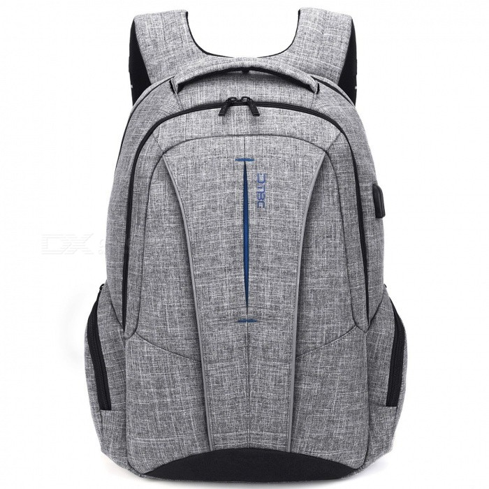 DTBG D8231 17.3 Inch Stylish Travel Business Laptop Backpack with USB Charging Port, Anti-theft Pockets for Women Men - GreyBags and Pouches<br>Form  ColorGreyModelD8231Quantity1 pieceShade Of ColorGrayMaterialNylonCompatible Size17.3 inchTypeBackpacks,Tote BagsPacking List1 x Backpack<br>