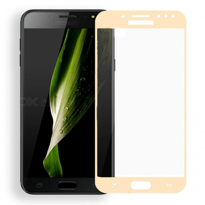 Naxtop Tempered Glass Full Screen Protector for Samsung Galaxy C8 - Golden - Free Shipping - DealExtreme