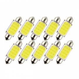 Car 1.5W DC 12V Car Interior COB LED Light Bulb Lamp - 10PCS (39mm)