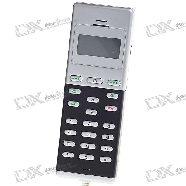 USB Skype VOIP Phone with Backlighted LCD (Black and Silver)