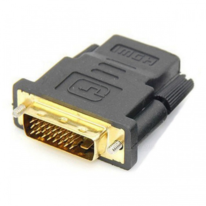 Dayspirit DVI 24+5 Male to HDMI Female Adapter Connector - BlackAV Adapters And Converters<br>Form  ColorBlackModelN/AMaterialABSQuantity1 DX.PCM.Model.AttributeModel.UnitShade Of ColorBlackConnectorHDMI,DVIPacking List1 x Adapter<br>